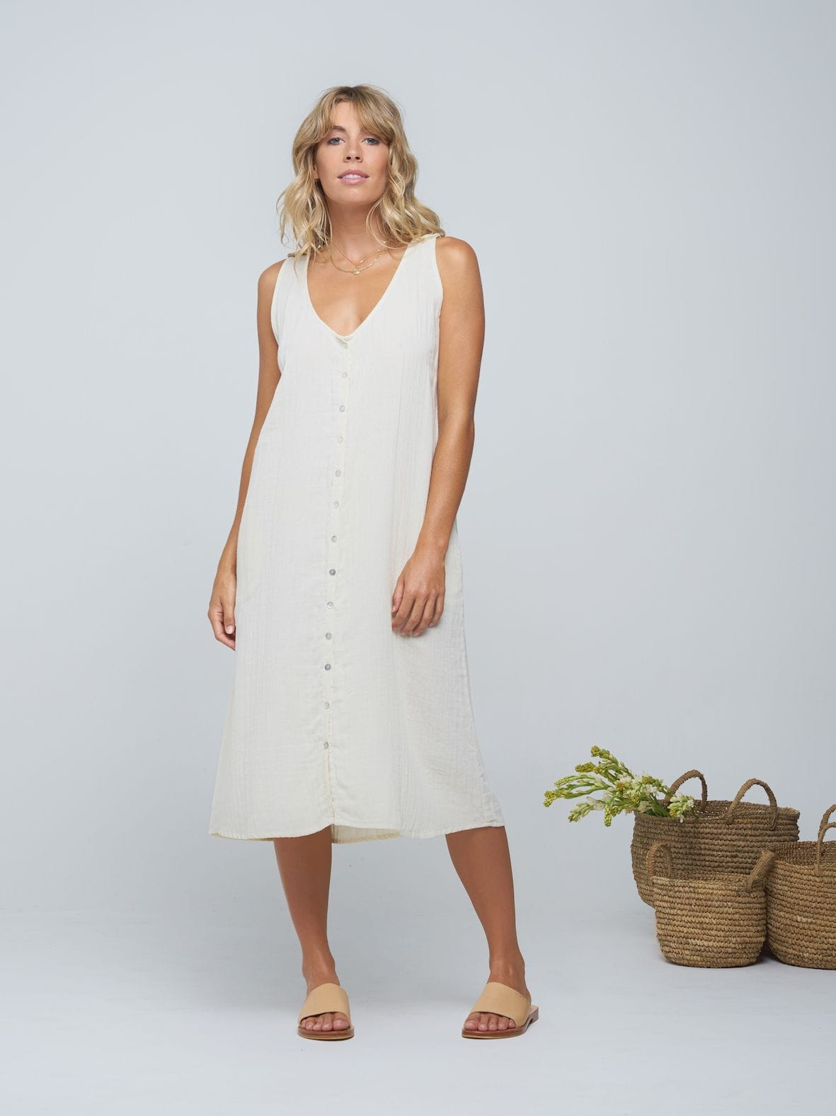 Indian Summer - Pushkar Dress - Ivory