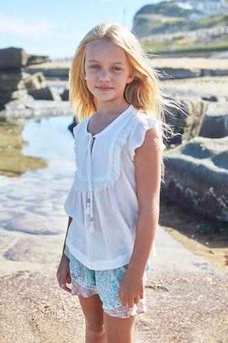 MiiLoveMu - Beach Frill Skort - Beach print