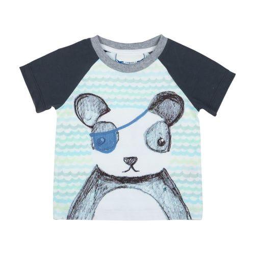 Little Wings by Paper Wings - Raglan T-shirt - Pirate Panda