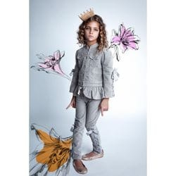 Paper Wings - Velvet Jeans with Bows