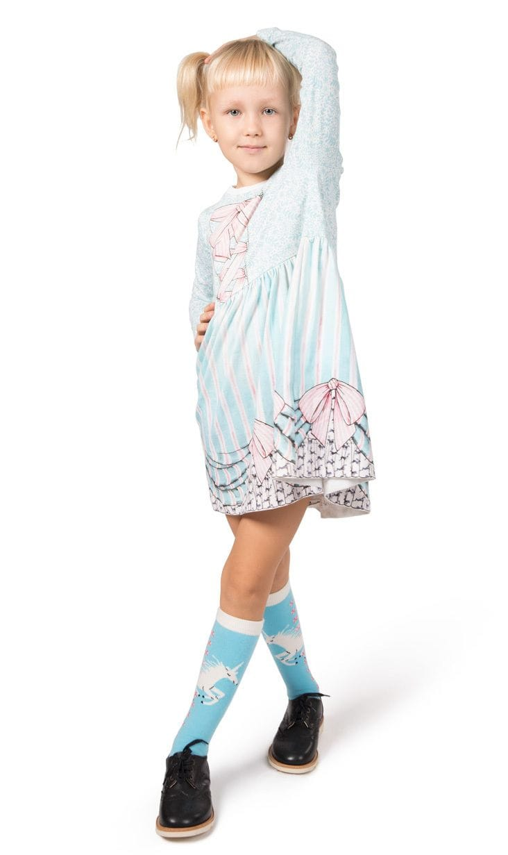 Paper Wings - Gathered T-Shirt Dress - Frills and Spills