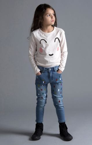 Minti - Paint Spot Denim Jeans
