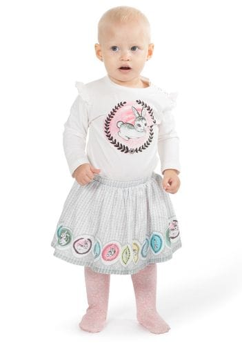 Little Wings by Paper Wings - T-Shirt with Shoulder Frills - Cameo Bunny