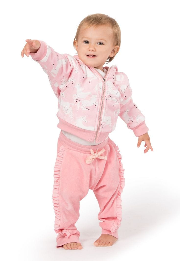 Little Wings by Paper Wings - Frilled Velour Trackies