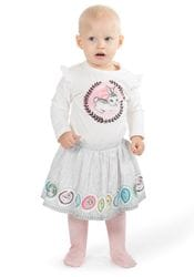 Little Wings by Paper Wings - Leggings w/Skirt - Bunny Cameo (with feet)