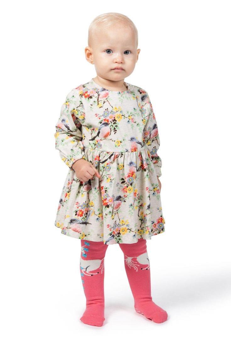 Little Wings by Paper Wings - Loose fit Onesie Dress - Pink Robins