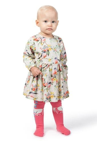 Little Wings by Paper Wings - Loose fit Onesie Dress - Pink Robins