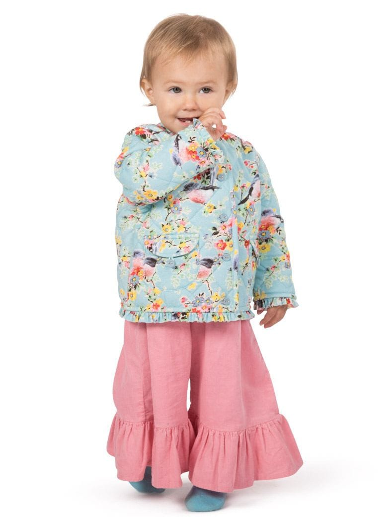 Little Wings by Paper Wings - Frilled Quilted Jacket - Vintage Flowers