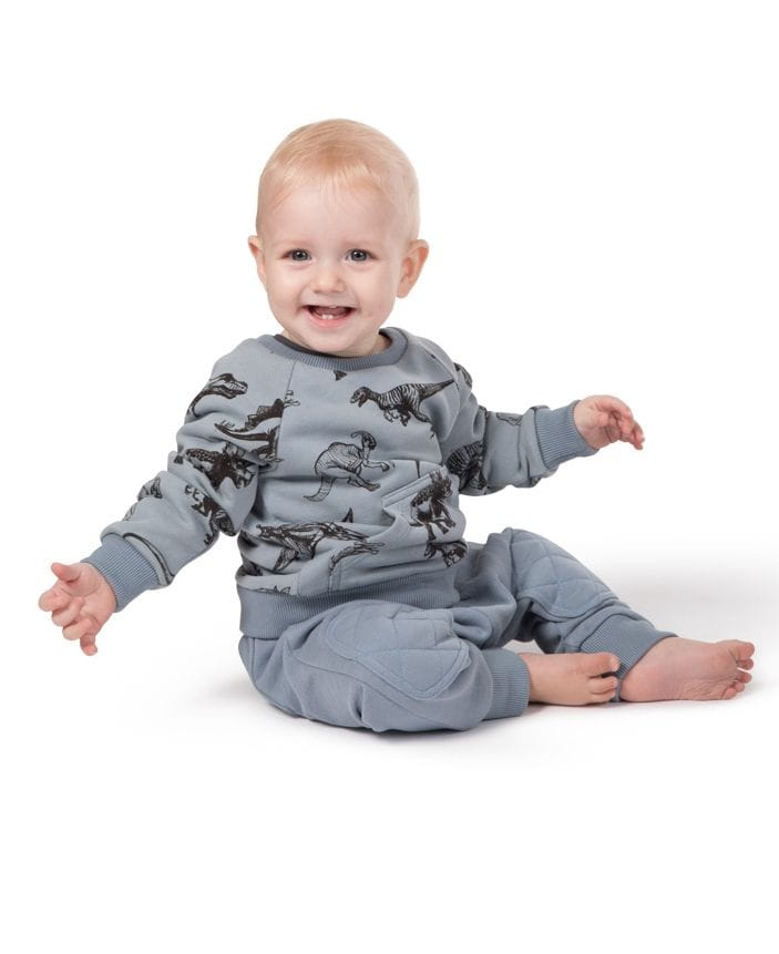 Little Wings by Paper Wings - Fleece Sweater - Dinosaurs