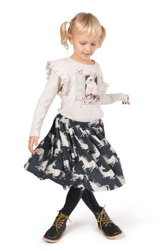 Paper Wings - Gathered Skirt - Unicorns