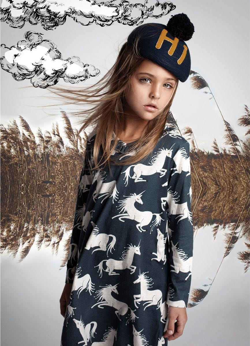 Paper Wings - Frilled Shift Dress - Unicorns