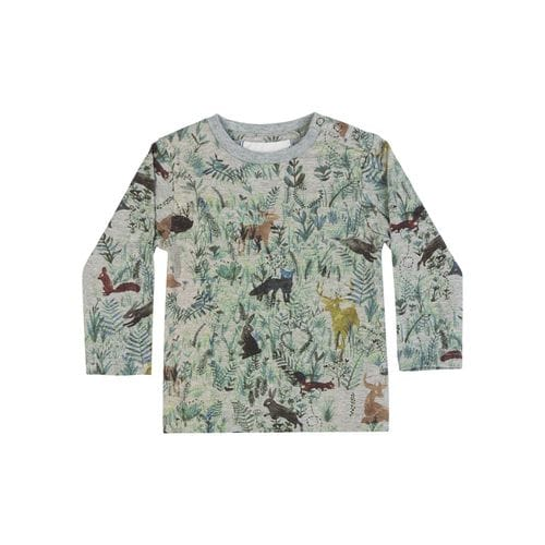 Little Wings by Paper Wings - Raglan Long Sleeve T-Shirt -Forest