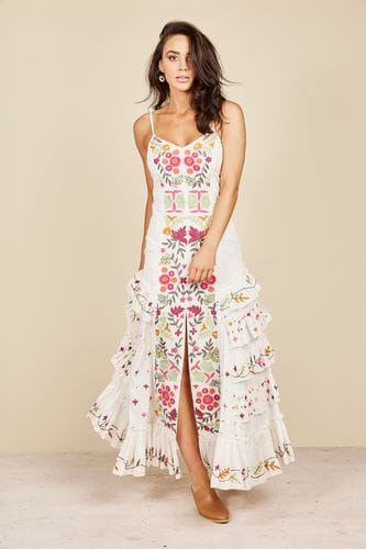 Talisman - Sadira Dress - White Versailles