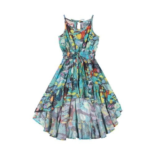 Paper Wings - Shirred Hilo Dress - Mystery Jungle