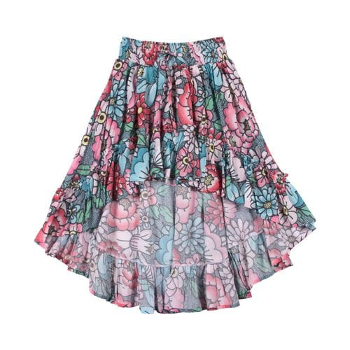 Paper Wings - Shirred Hilo Skirt - Tattoo Flowers