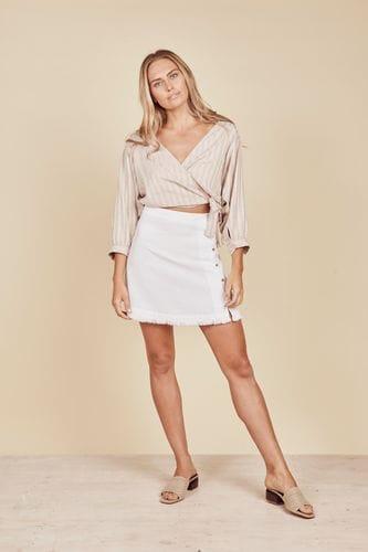 Daisy Says - Aspen Skirt - White