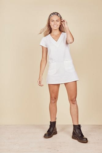 Daisy Says - Playa Shift Dress - White