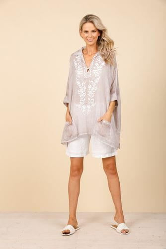 Holiday - Nahla Top - Seal & White