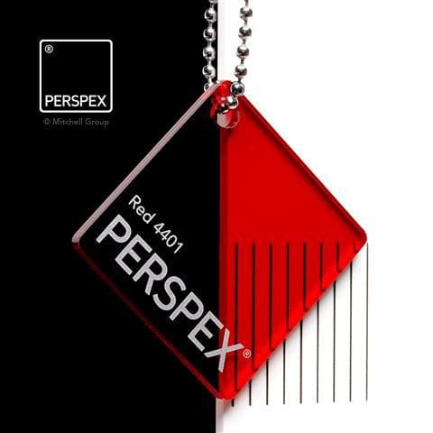 Holland Plastics Perspex® Transparent Colours & Tints - Red 4401