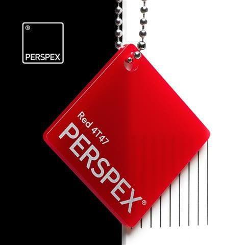 Holland Plastics Perspex® Transparent Colours & Tints - Red 4T47