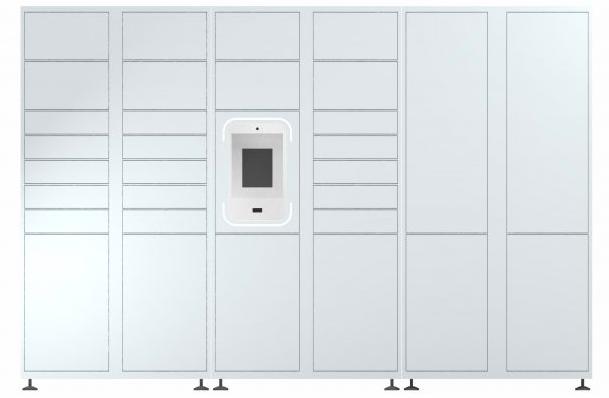 Groundfloor smart parcel lockers apartments