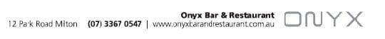ONYX Bar & Restaurant Contact Details