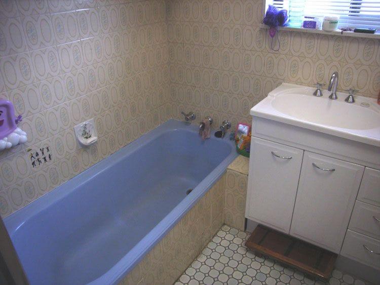 Reservoir Bathtub Before Resurfacing | Bathtub Resurfacing | Tub Resurfacing | Bathroom Tub Resurfacing | Melbourne | Sydney | Perth | Gold Coast | Geelong | Ballarat | Adelaide | Wollongong | Bathroom Werx