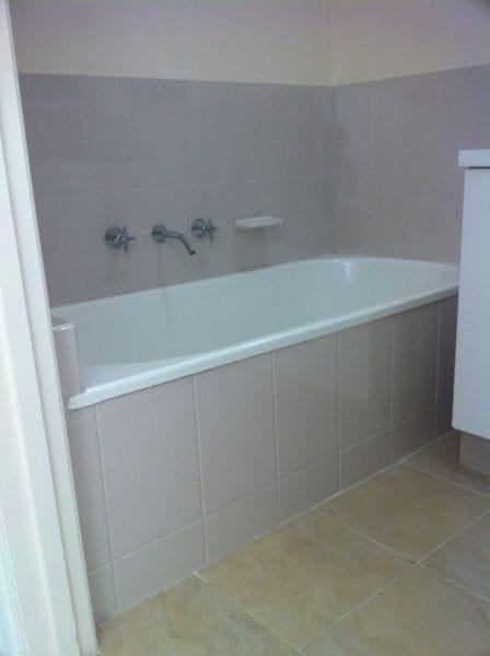 Bathroom after resurfacing