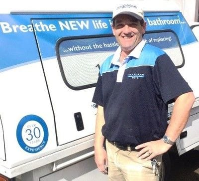 Darren Barker, bath renovation technician in Melbourne