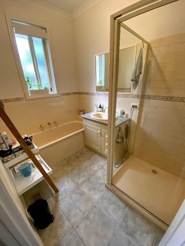 Main bathroom before renovation