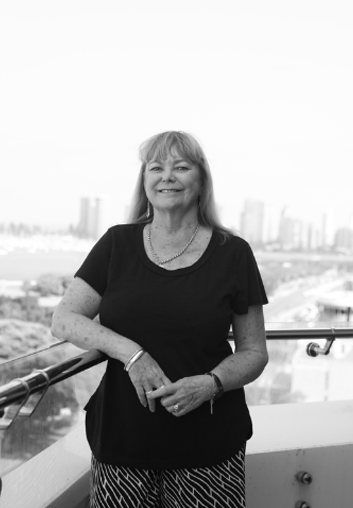 Debra Bradley - Legal Secretary standing on balcony at IP Partnership | Our Team | Lawyers | Intellectual Property