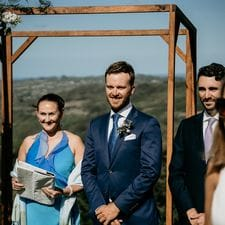 Nathan & Marriage Celebrant Liz Pforr Summergrove Estate, Carool NSW Feather & Finch Photography