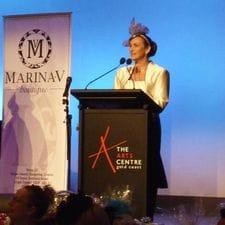 Liz Pforr MC at Melbourne Cup HOTA