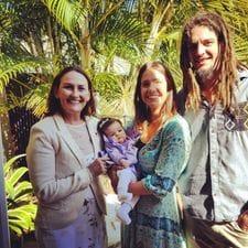 Jessica, Brendan & Liz at Willow's babynaming