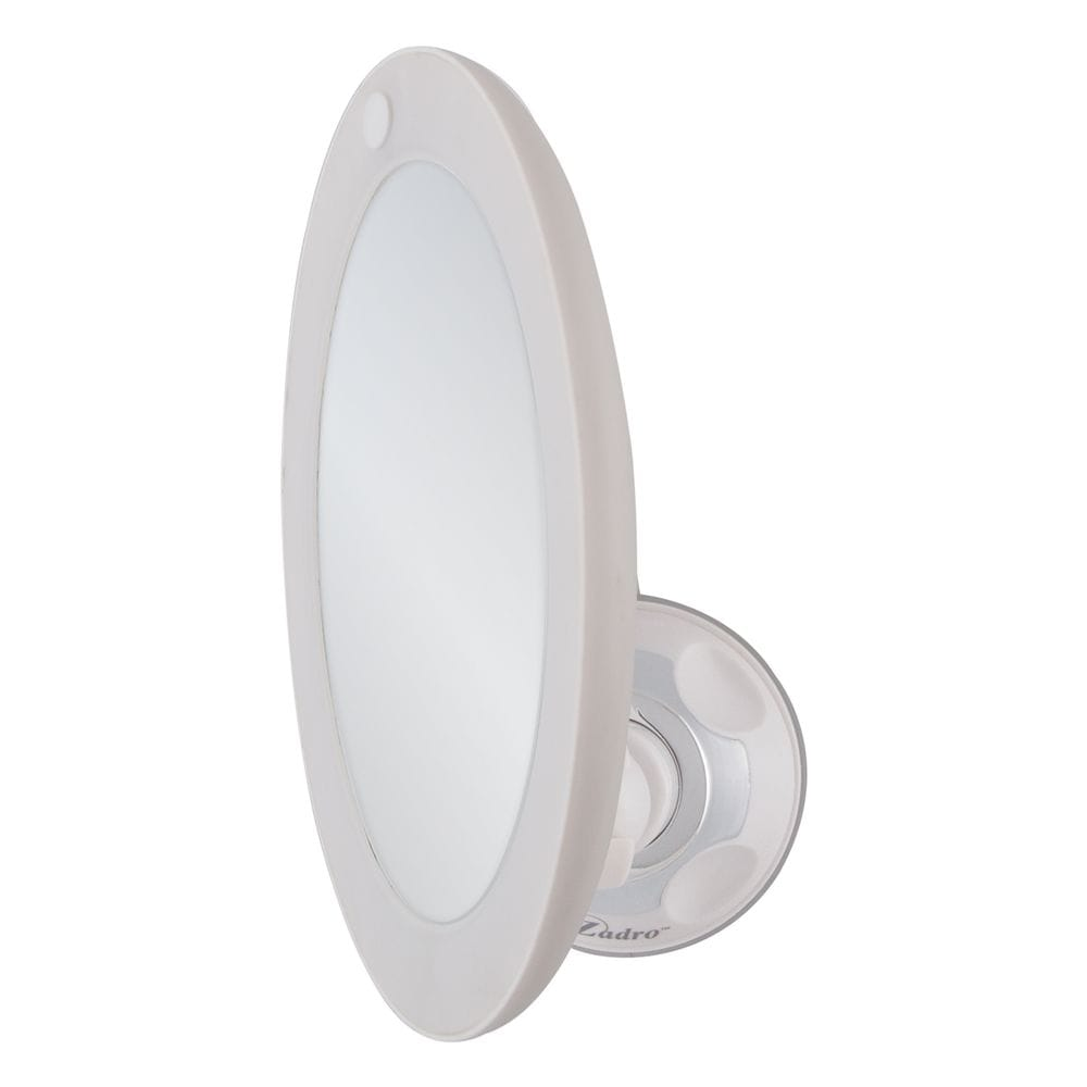 Thumbnail Round LED Lighted 10X Power Suction Magnifying Mirror