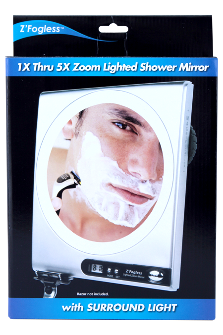 Thumbnail Fogless Mirror: Adjustable 1X to 5X  magnification. JKZ850