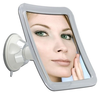 Square 10X Power Suction Swivel Magnifying Mirror