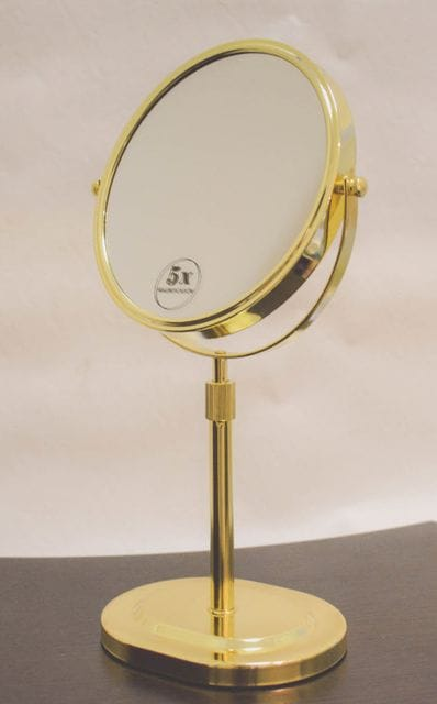 5x  Magnification Gold Vanity Mirror