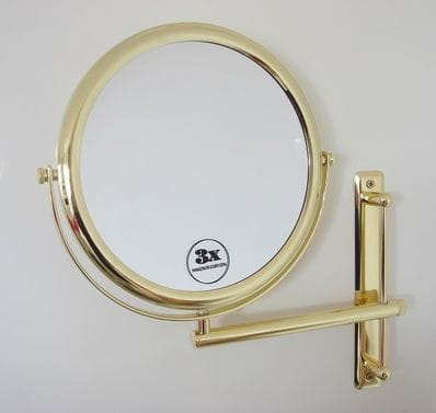 3X Wall Mount Mirror: 3030G GOLD