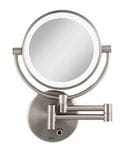 Cordless Wall Mount LED Halo Lighted 10x Magnifying Mirror