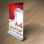 A4 Mini Pull-up Banner