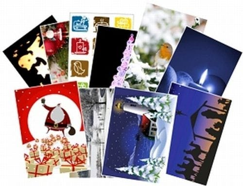 Box of 100 A6 Christmas Cards + Envelopes