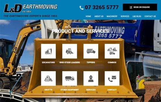 New L&D Earthmoving Website Online