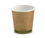 120ml/ 4oz (63mm) Kraft Green Stripe Single Wall Biocup