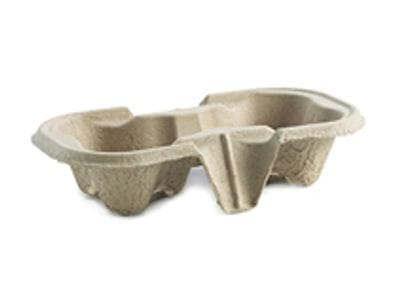 Brown Pulp 2 Cup Carry Tray