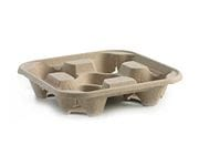 Brown Pulp 4 Cup Carry Tray