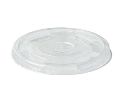 300-700ml BioCup Flat Lid With Straw Slot