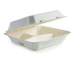 """23x23x8cm / 9x9x3"""" 3 Compartment Clamshell"""