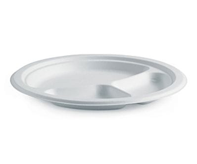 "10"" Round 3 Compartment BioCane Plate"