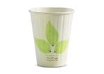 255ml/8oz(80mm) Leaf Double Wall Biocup